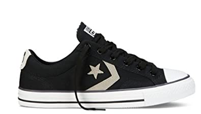 Converse Star Player Ox Shoes - Black / Old Silver - UK 9