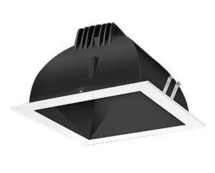 Rab Lighting Ndled4S-80Yn-B-W Led Trim Mod- 4 Square 35K 80-Degree White Ring With Black Cone