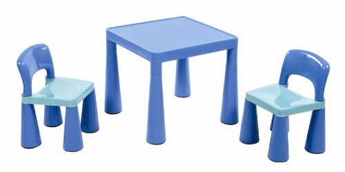 Liberty House Children's Table with 2 Chairs (Blue)