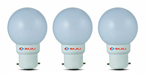 Ping Pong B22 0.5W LED Bulb (White, Pack of 3)
