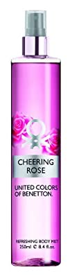 United Colors of Benetton Body Mist Cheering Rose 8.4 Ounce