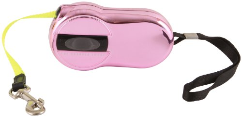 sharper-image-retractable-reflective-safety-pet-leash-pink-by-sharper-image