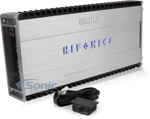 Hifonics Brutus BRZ2400.1D D-Class Mono Block 1 x 850 @ 4 OHMS, 1 x 1700 @ 2 OHMS, 1 x 2400 @ 1 OHM