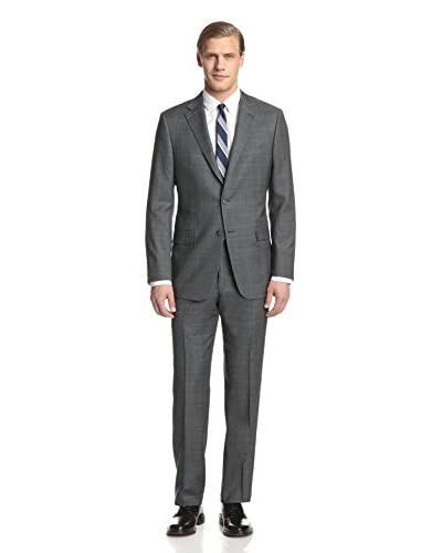 Hickey Freeman Men's Windowpane Suit
