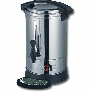 Homefront Premium Chrome Catering Urn With Water Level Indicator  &  Safety Locking Lid