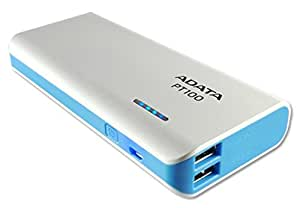 ADATA PT100 10000mAH Power Bank (White-Blue)