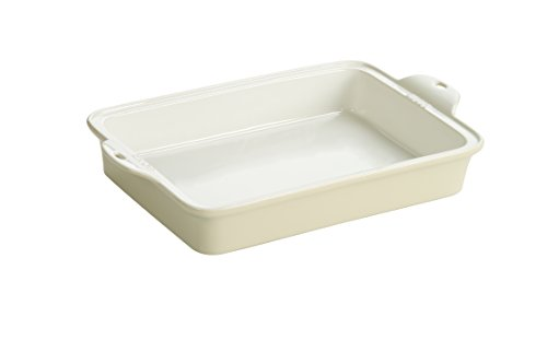 Lodge STW13RCT13 Stoneware Baking Dish, 9″ x 13″, Oyster White