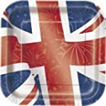 23cm Square Best of British Union Jac...