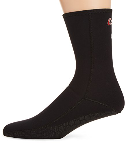 Cressi Metallite Socks Calzari in Neoprene Antiscivolo, 3 mm, Nero, L