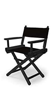 Telescope Casual Child's Director Chair, Black with Black Frame from Telescope Casual Furniture