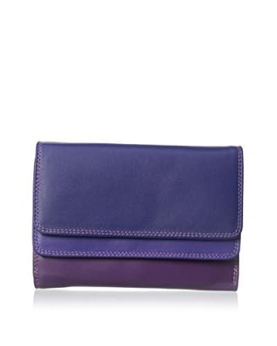 Mywalit Women's Double Flap Purse/Wallet, Sweet Violet