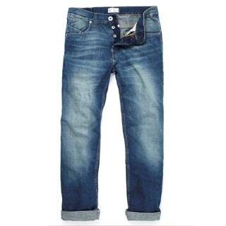 Firetrap Tokyo G3 Blitz Wash Mens Jeans Blue 28W S