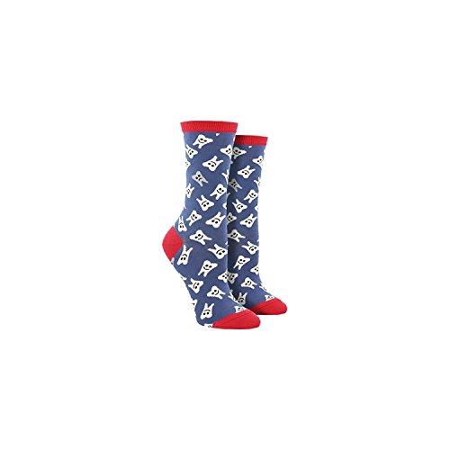 socksmith-womens-crew-socks-happy-teeth-periwinkle-one-size