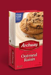 Archway  Classic Soft Oatmeal Raisin Cookies, 9.25 Ounce