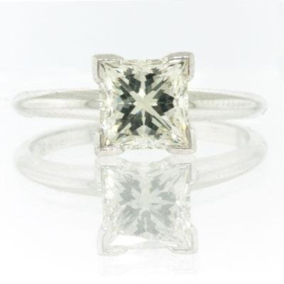 1.51ct Princess Cut Diamond Engagement Anniversary
