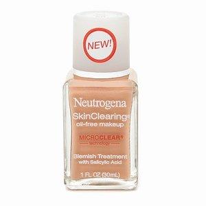 Neutrogena Skin Clearing Oil Free Makeup Soft Beige #50, 1 Oz., (30ml)