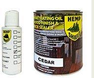 Hemp Shield Wood Finish & Deck Sealer Cedar - 4 pack (Hemp Shield Stain compare prices)