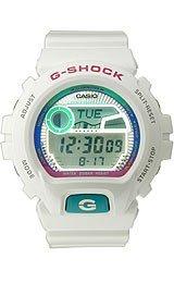 Men'S White G-Shock G-Lide Moon Tide Phase