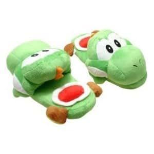 "Amazon.com: Mario Bro: Green Yoshi Slippers 11"": Toys & Games"