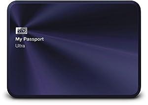 WD My Passport Ultra Metal Edition externe Festplatte 1TB (6,3 cm (2,5 Zoll), 5400rpm, 8MB Cache, SATA, USB 3.0) blau/schwarz