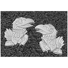 Logo Art Kansas Jayhawks Sterling Silver Team Logo 7/16 Post Earrings