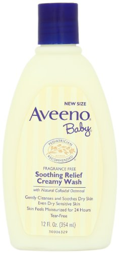 Aveeno Baby Soothing Relief Cream Wash, 12  Ounce