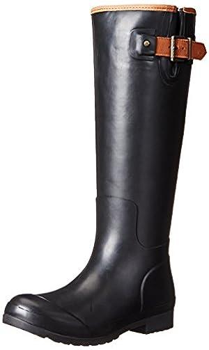 Sperry Top-Sider Women's Walker Haze Mist BLK Rain Boot, Black, 5 M US