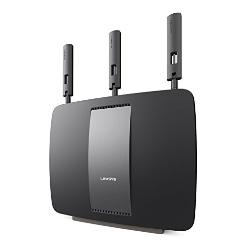 Linksys AC3200 Tri-Band Smart Wi-Fi Router with Gigabit and USB, Designed for Device-Heavy Homes, Smart Wi-Fi App Enabled to Control Your Network from Anywhere (EA9200-4A)