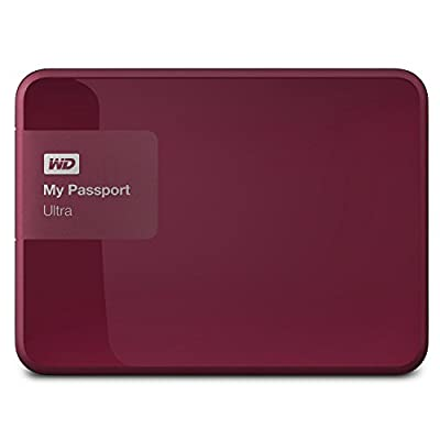 WD 3TB Berry My Passport Ultra Portable External Hard Drive - USB 3.0 - WDBBKD0030BBY-NESN