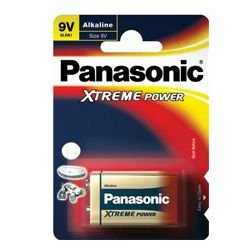 Panasonic 9V Block Batterie Xtreme Power 6LR61X, 6AM6