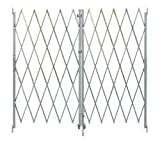 Industrial Grade 2XZG5 Steel Folding Gate, Opoening 6-8Ft