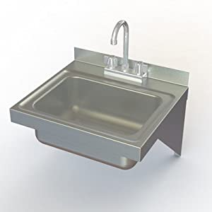 NSF Wall Mounted Stainless Steel Hand Sink - Utility Sinks - Amazon ...