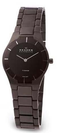 Skagen Women's 585XSTMXB Swiss Titanium Black Watch
