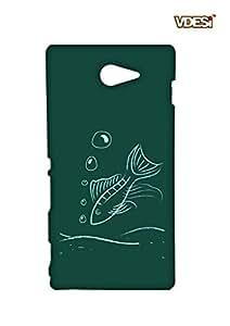 VDESI Designer Matte Back Cover For Sony Xperia M2 (D2303)-21540104