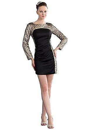 Elegant Women's Long Sleeve Tight Fitted Short Formal