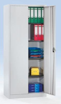 Mauser Armoire universelle à portes battantes - h x l x p 1850 x 800 x 420 mm - gris clair - armoire armoire de bureau armoire métallique armoire universelle armoire à portes battantes armoires armoires de bureau armoires métal