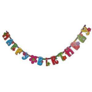 パーティー グッズ ハッピーバースデー 飾り バナー お誕生日 (フラワー)