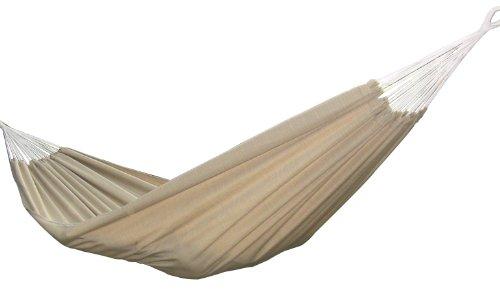 Vivere Brazilian Style Sunbrella Double Hammock, Sand front-190015