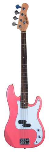 "Full Size 43"" Precision P Electric Bass Guitar Metallic Pink With Gig Bag And Accessories (Includes, Strap, Strings & Directlycheap(Tm) Translucent Blue Medium Guitar Pick)"