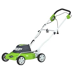 GreenWorks 25012 18-Inch 12 Amp Electric Mulch/Side Discharge Lawn Mower With Single Level Height Adjust from GreenWorks