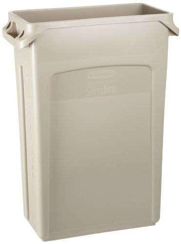 rubbermaid-fg354060-beige-23-gallon-slim-jim-with-venting-channels-by-rubbermaid-commercial-products