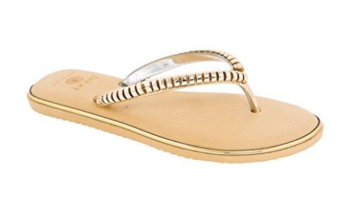 Beaute Fashion Ripples Women's Comfort Flip Flop Sandal Thong #1