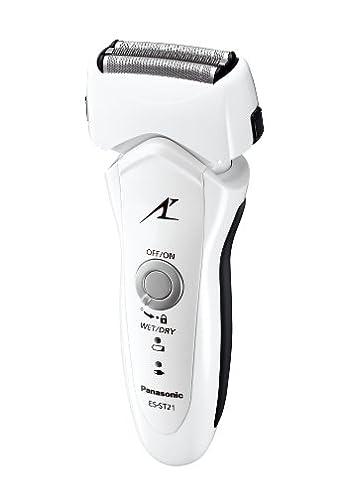 Panasonic メンズシェーバーラムダッシュ 3枚刃 白 ES-ST21-W