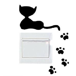 Vinilo decorativo pegatina pared, cristal, puerta (Varios colores a elegir)-gato marca SUPER STICKER - BebeHogar.com