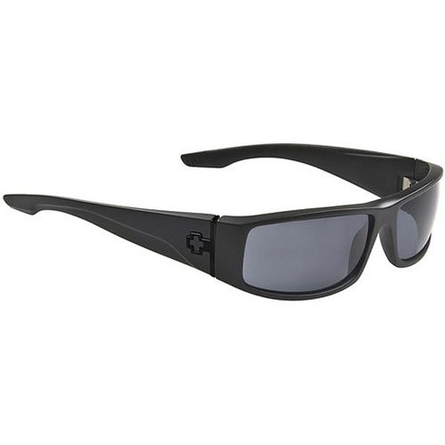 Spy Cooper Sunglasses - Spy Optic Steady Series Polarized Racewear Eyewear - Color: Matte Black/Grey, Size: One Size Fits All