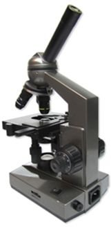 Carson 100X-1000X Table Top Microscope, Gray Ms-100