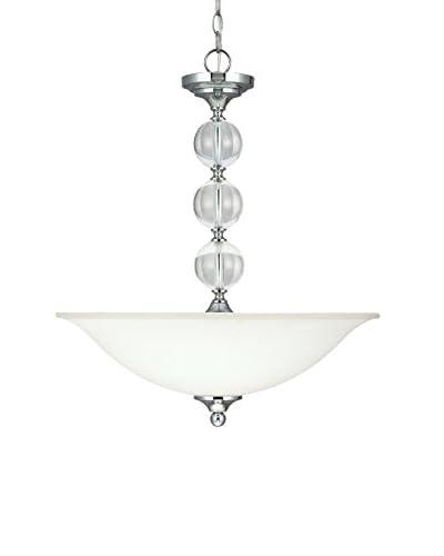 Sea Gull Lighting Englehorn 3-Light Pendant, Chrome