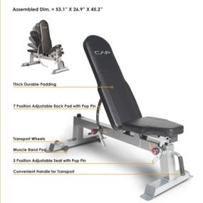 Cap Barbell Deluxe Utility Bench Sports Outdoors