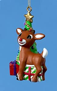 Rudolph the Red-Nosed Reindeer Tree and Presents Christmas Ornament
