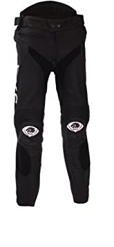 BKS Tigre de Jean moto moto en cuir Pantalon pour femme en cuir CE blindé noir J & S